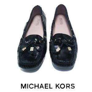 MICHAEL MICHAEL KORS Amber Leather Moccasin Flats